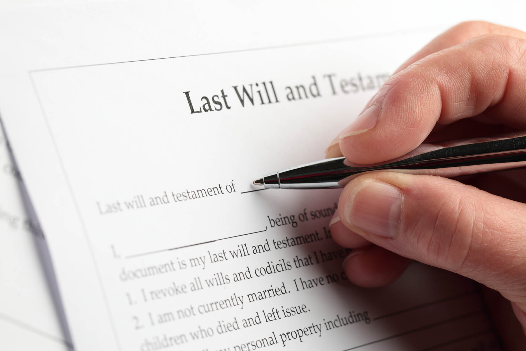 writing of will